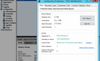 SoftActivity TS Monitor with Citrix XenApp